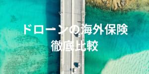 【2019年】海外でのドローン事故にも適用される保険を徹底比較