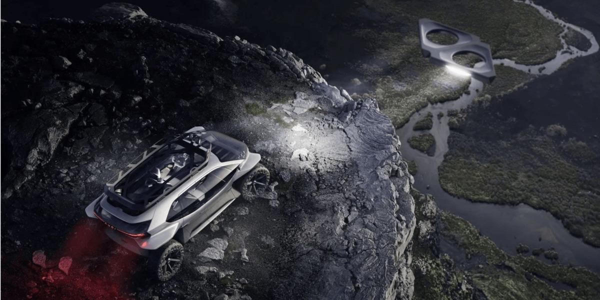 アウディの電気自動車のヘッドライトはドローン!? フランクフルトのモーターショーで発表
