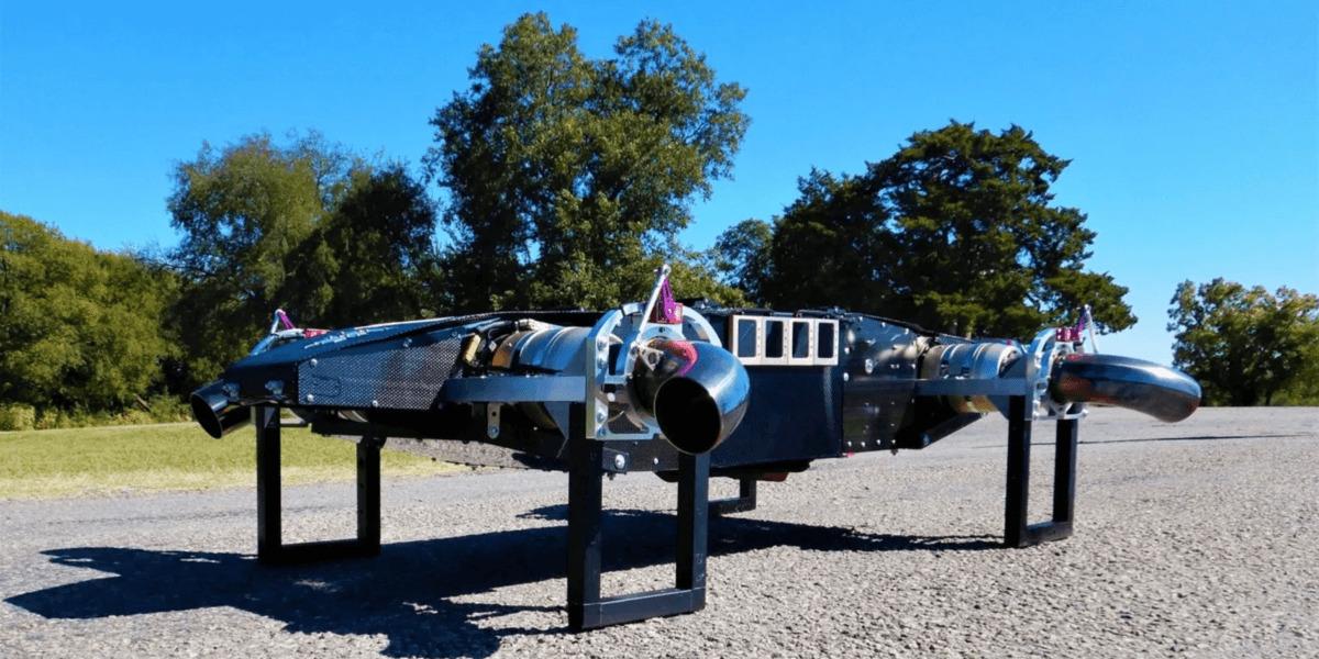 ジェットエンジンで空飛ぶドローン!? アメリカの会社Fusion Flightの制作した『JetQuad』