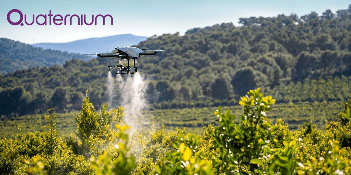 ハイブリッドドローン「HYBRiX 2.1」農薬散布の動画公開 – Quaternium