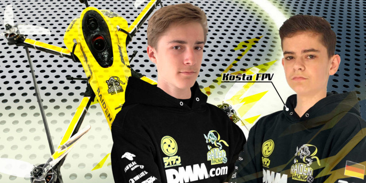RAIDEN RACING、ドイツ人若手ドローンレーサー2選手と契約