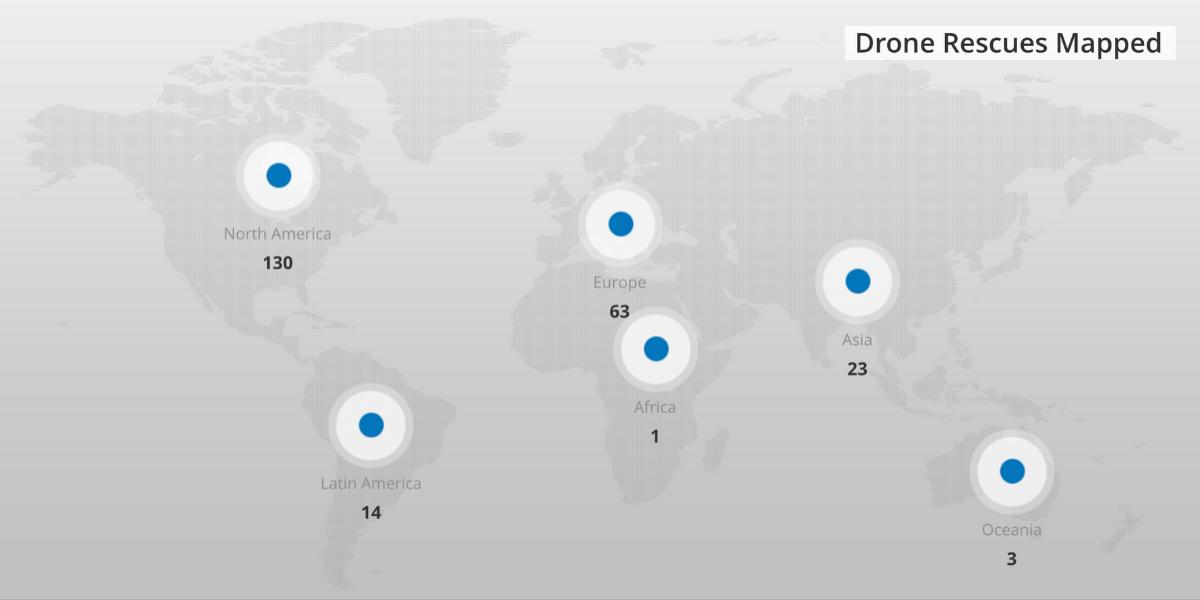 DJIが世界中のドローン救出をまとめた「ドローンレスキューマップ」公開