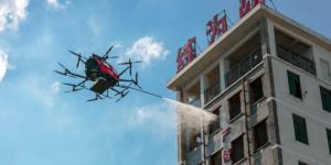 EHangが高層消防用ドローン「EHang 216F」を発表!150ℓの水で消火活動