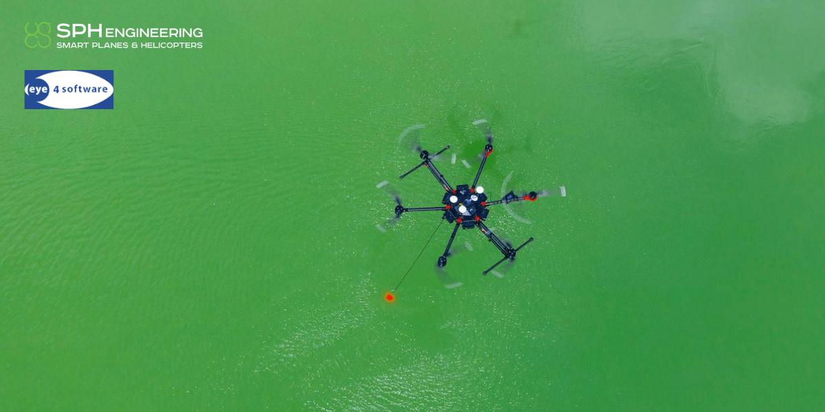 SPH EngineeringとEye4Softwareが提携 ドローンの水中調査アプリ開発