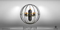 壁に沿って飛べるケージに覆われたドローン「Skycopter」 アメリカ進出