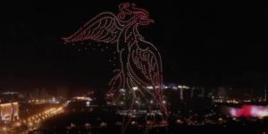 【ドローンライトショー】1,000機ドローンが中国長春市の空を彩る