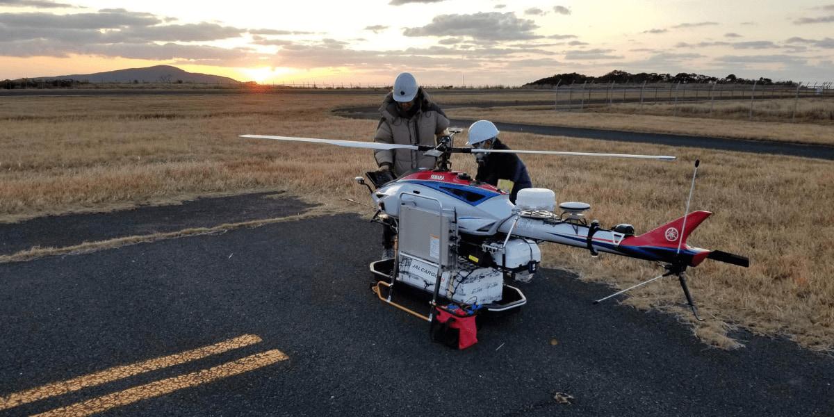 JAL、無人ヘリコプター活用を評価され、国土交通省と業務委託締結