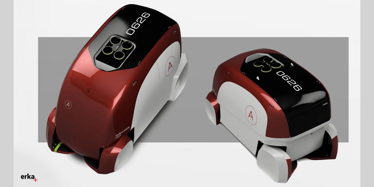 未来の救急車のデザイン公開 上部にはドローン、空の視点で道を切り開く