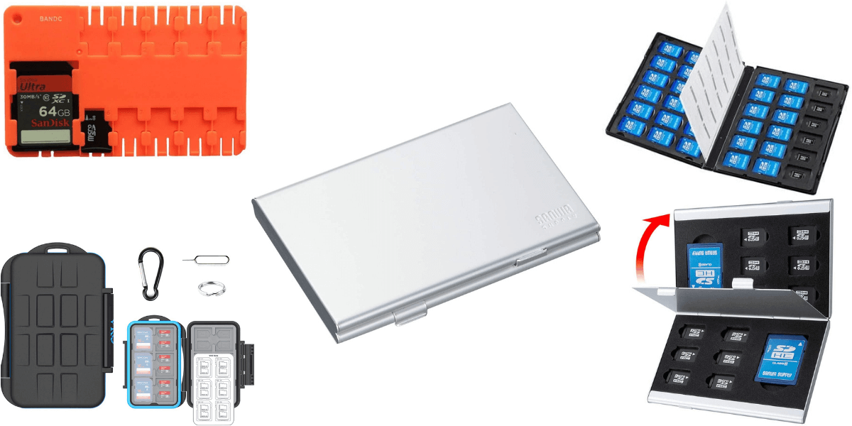 収納・保管に便利!microSDカードのおすすめケース・おすすめホルダー5選