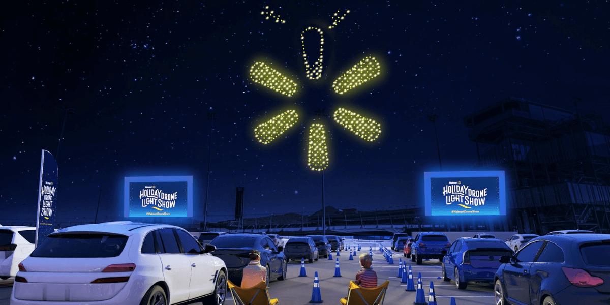 アメリカにて、ホリデー ドローン ライトショー開催 – WalmartとIntel