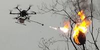 火炎放射器を搭載したドローンがスズメバチの巣を駆除 – 中国 重慶市