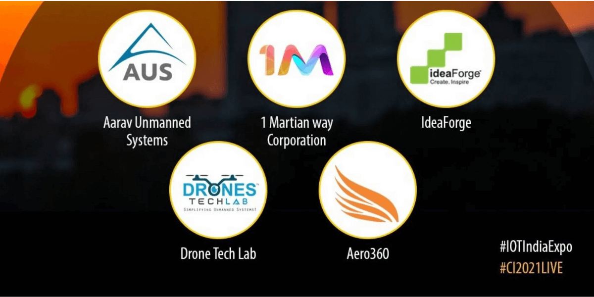 IoT India Expo、インドのトップ5のドローンメーカーを発表