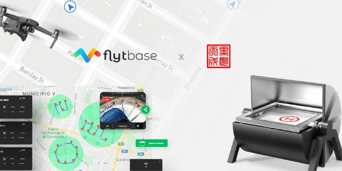 FlytBaseとHeisha提携、ドローンインボックスのパッケージを提供する予定