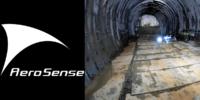 エアロセンス、電波のない環境下にて自動飛行ドローンによりトンネル点検
