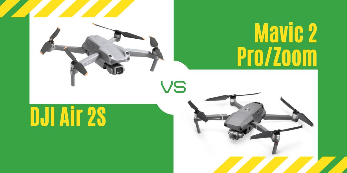 【徹底比較】「DJI Air 2S」VS「Mavic 2 Pro/Zoom」どのドローンがおすすめ?