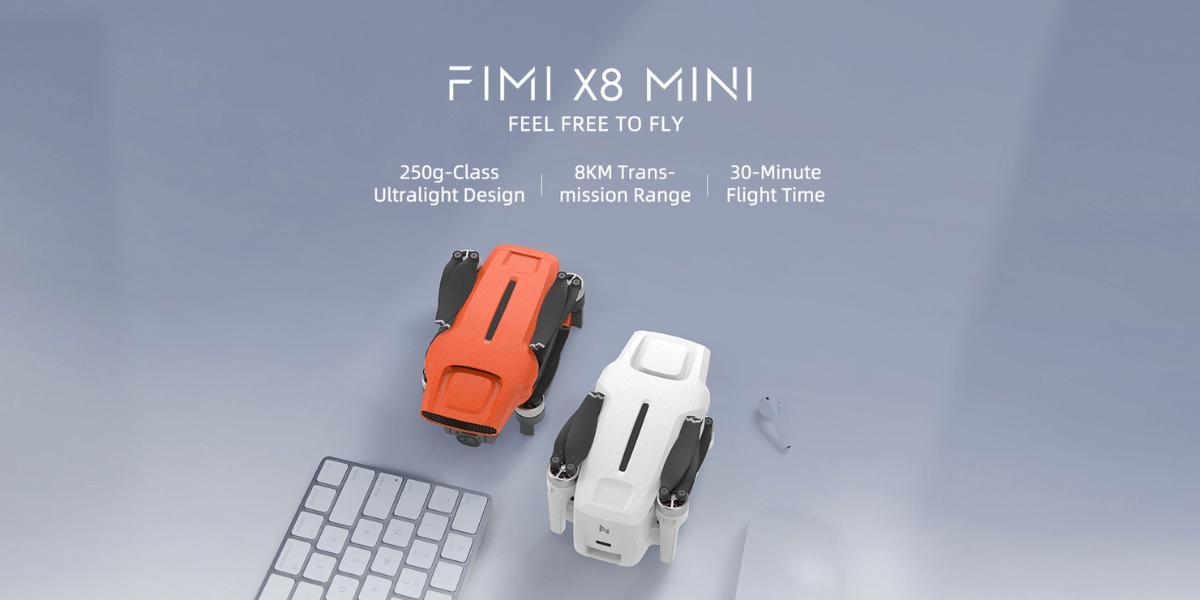 4月18日、中国のFIMIが250g以下の新ドローン「X8 Mini」販売開始
