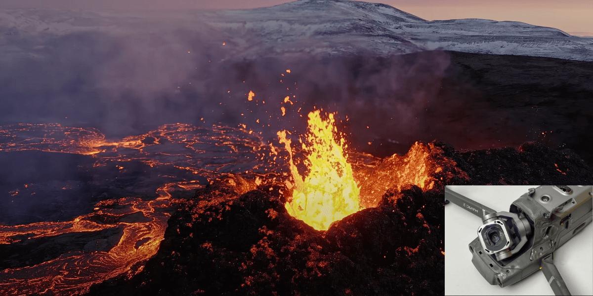DJIドローン「Mavic 2 Pro」を犠牲に撮影されたアイスランド火山の映像公開