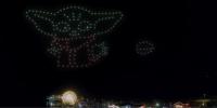 Disney+がドローンライトショーを開催!あの人気キャラが空に登場
