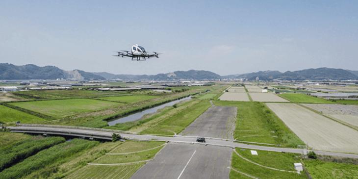 中国のAAV企業EHang、「EHang 216」による日本での試験飛行を実施