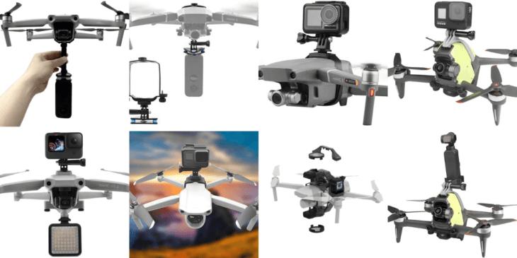 アクションカメラをDJIドローンに取り付けよう!360度撮影も可能に