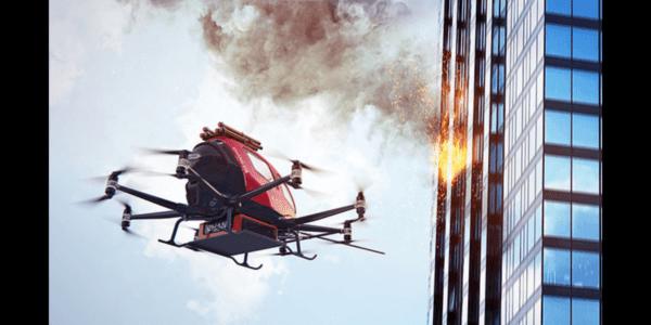 中国のエアモビリティ会社EHang、消防モデル「EH216F」技術試験完了