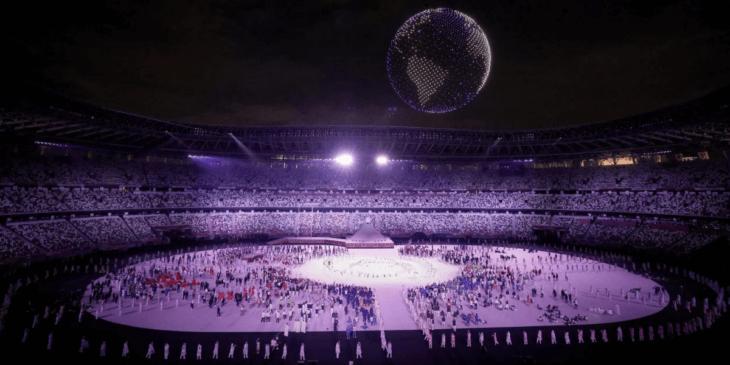 東京オリンピックの開会式でドローンライトショー!1,824機が空を彩る