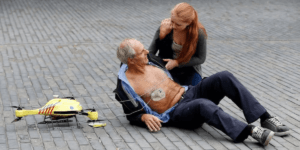スウェーデンにて、AED搭載ドローンの運用実験